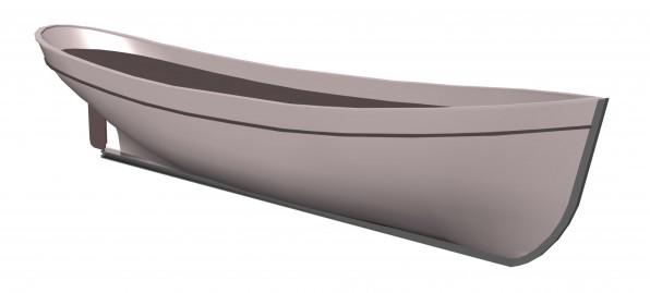 3D Modell Rumpf Platessa
